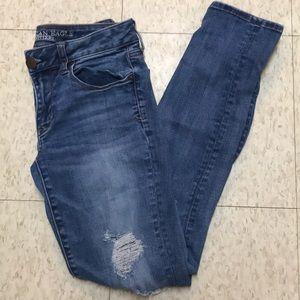 American Eagle destroyed skinny jeans